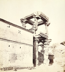 View from the south-west of the north porch of the Rudra Mahalaya Temple, Siddhapur